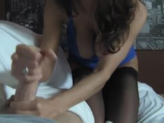 Colombian, Cougar, Boobs, Handjob, Pov, Huge, Aunt, Lingerie, Mother-in-law, Stockings, Tits, Brunette, Big tits