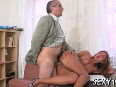Old and young, Russian, Old, Small tits, Young, Schoolgirl, Amateurs, Cock, Tits, Hardcore, Teacher