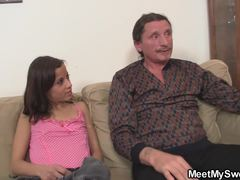 Old and young, Teen, Young, Old, Mommy, Cock, Fucking, Riding, Blowjob