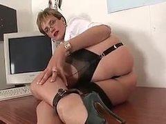Lady, Hidden, Desk, European, British, Hidden cam, Brunette, Fucking
