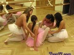 Orgy, Blonde, Toys, Ballerina, Boobs, Lesbian, Dildo, High definition, Tits, Group, Teen