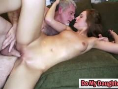 Dad and girl, Teen, Fetish, Lick, Old man, Young, Old, Group, High definition, Not daughter, Brunette, Blowjob