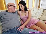 Old and young, Teen, Cum in mouth, Grandfather, Dad and girl, Young, Babe, Petite, Old, Brunette, Hardcore, Blowjob