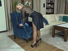 reife blondine strumpfhosen sex